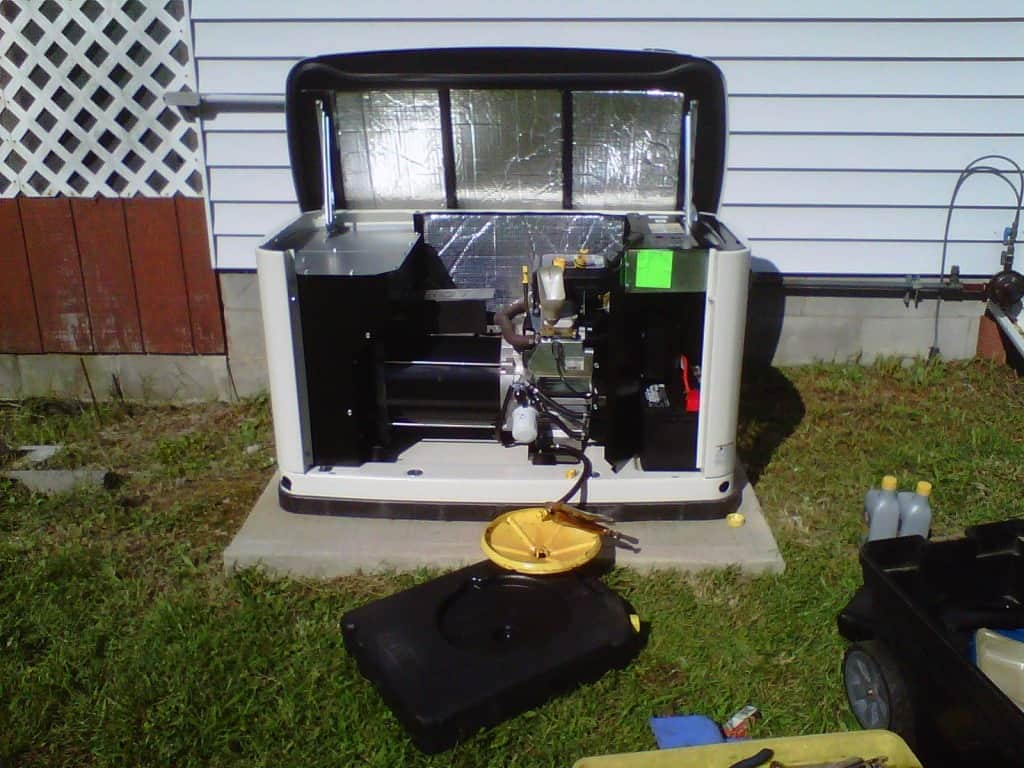 Generac Automatic Standby Generator Being Serviced