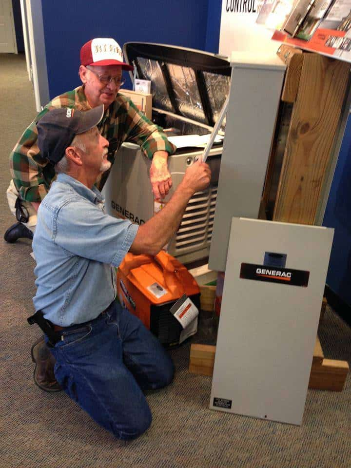 Hale's Staff Demonstrate how a Transfer Switch works on Showroom Demo