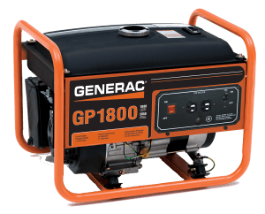 LP Series Propane Portable Generator Outside of House
