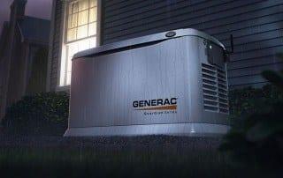Generac Generator in Rain