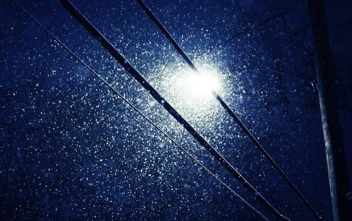 Snow on Power Lines