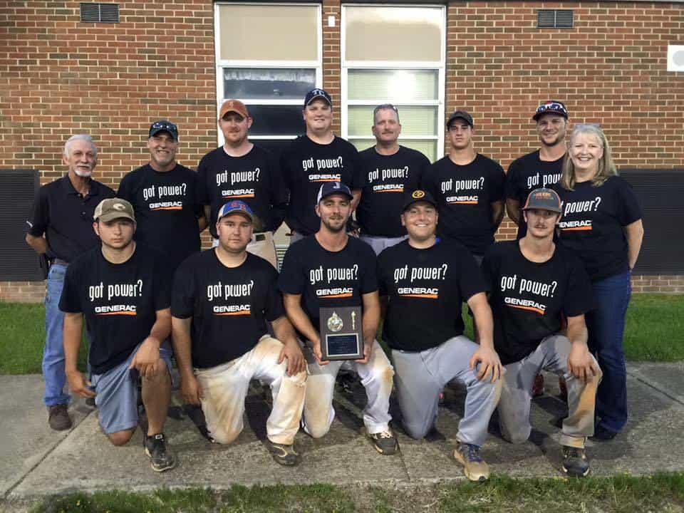 Colonial Heights Recreational Baseball Team Photo