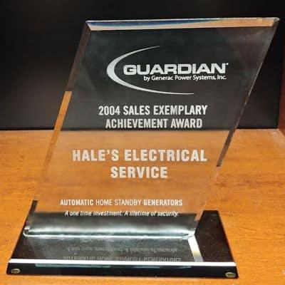 2004 Guardian Sales Exemplary Achievement Award