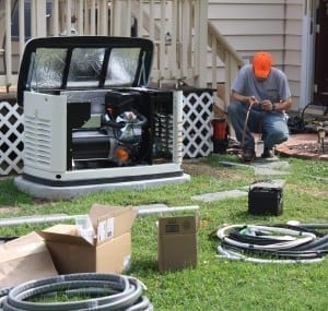 Installation Crew Wiring a Generac Automatic Standby Generator to Home