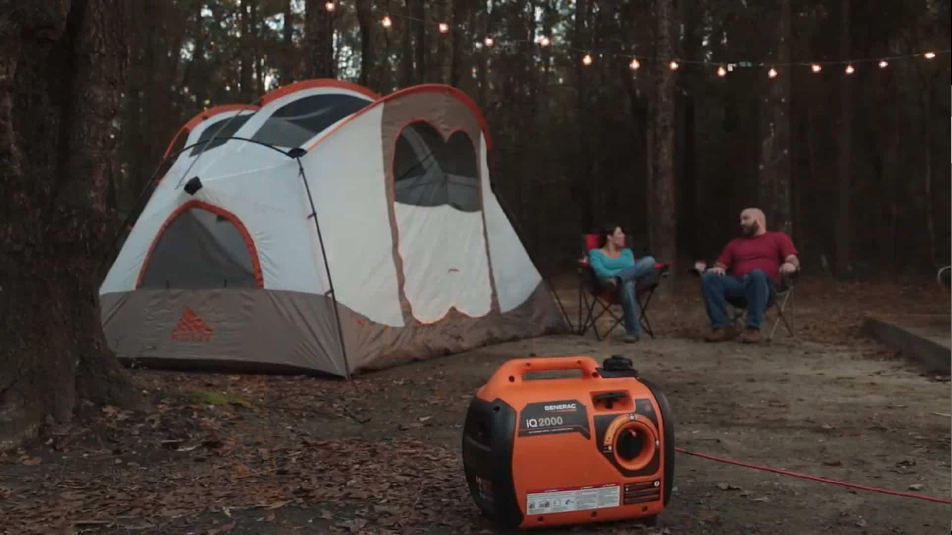 Generac iQ2000 Portable Inverter Near Tent