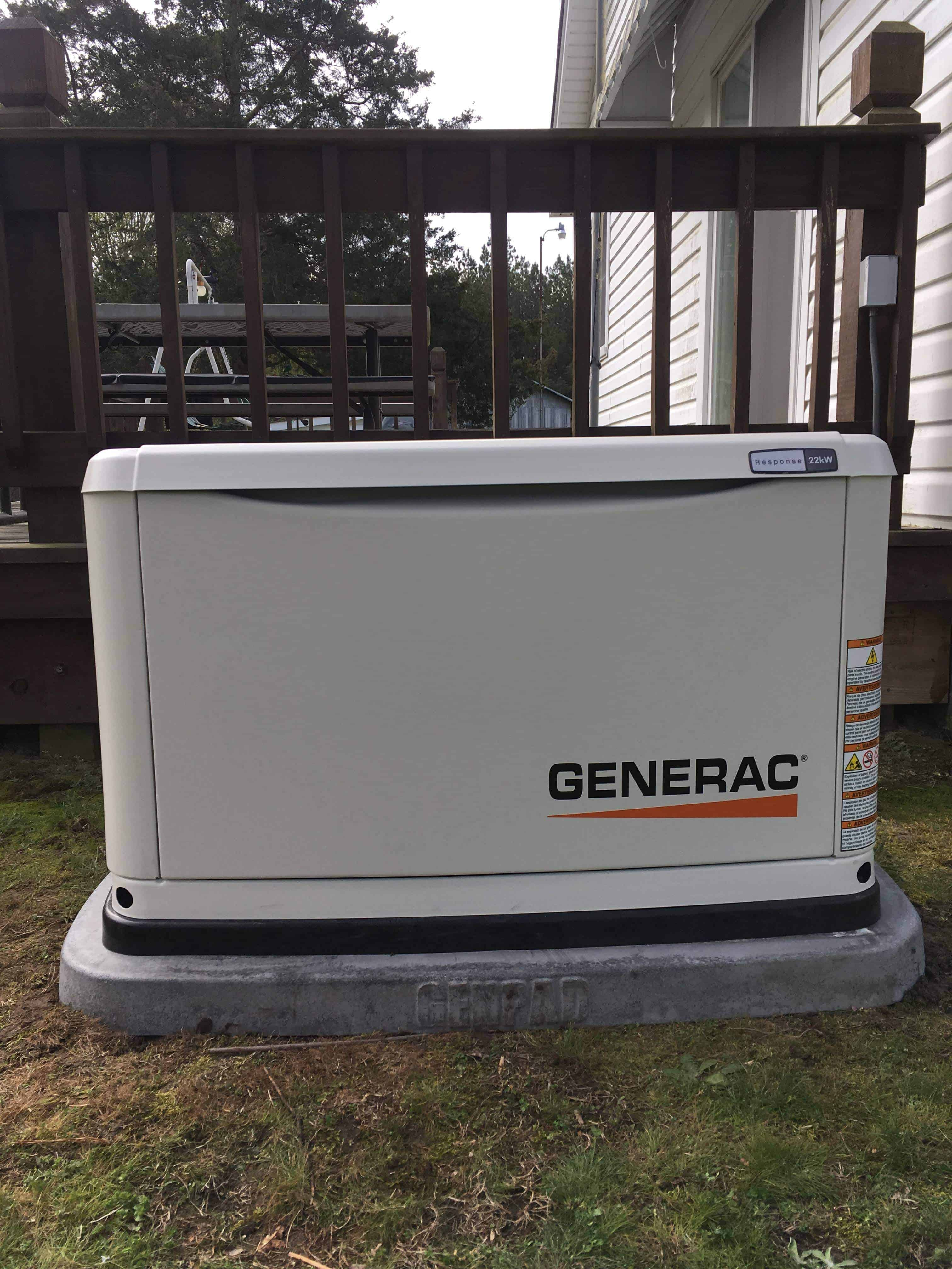 Automatic Standby Generac Generator Nottoway County