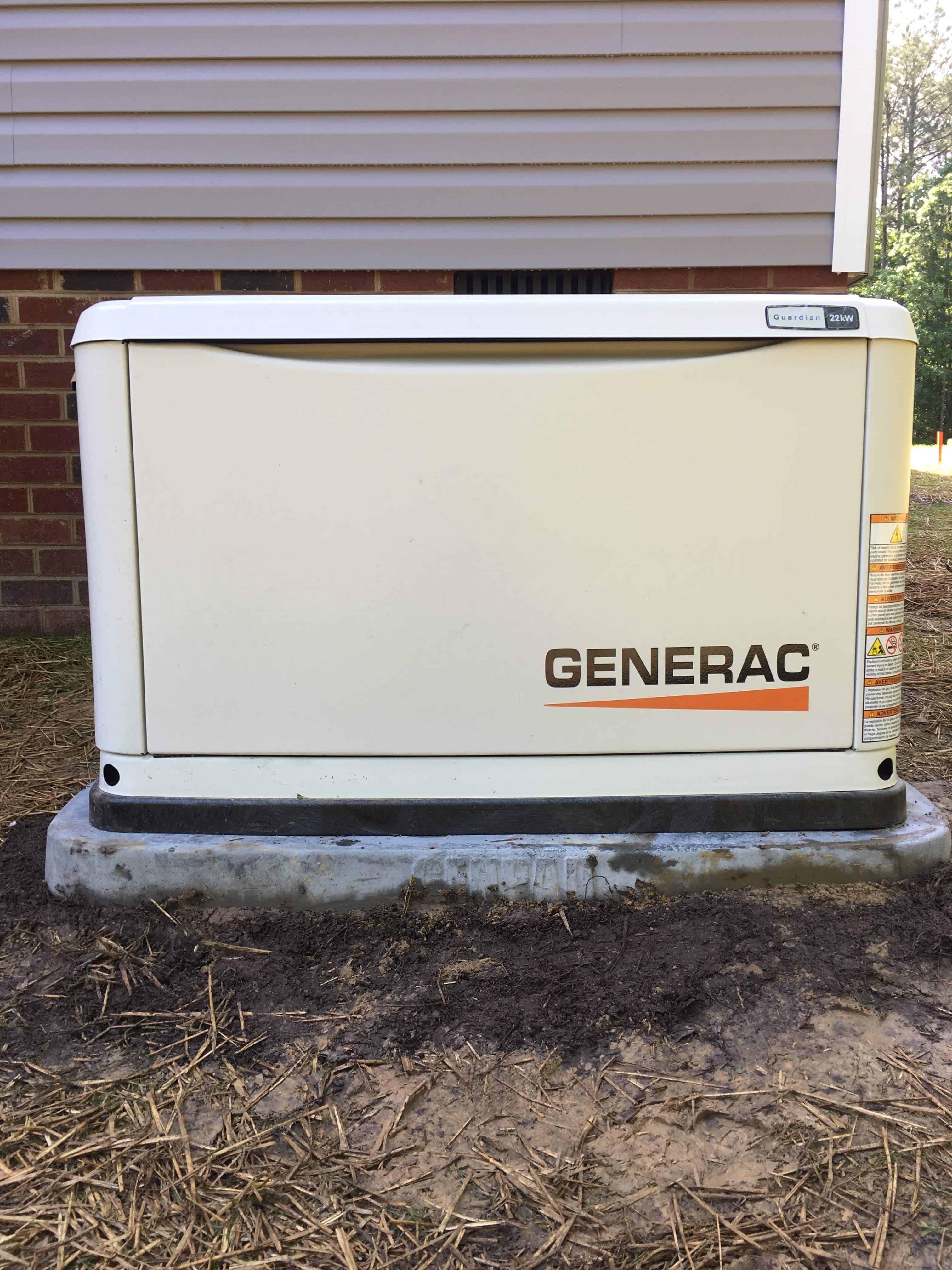 Generac Automatic Standby Generator Brunswick County