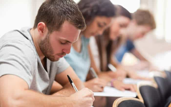 College Students Taking Exam