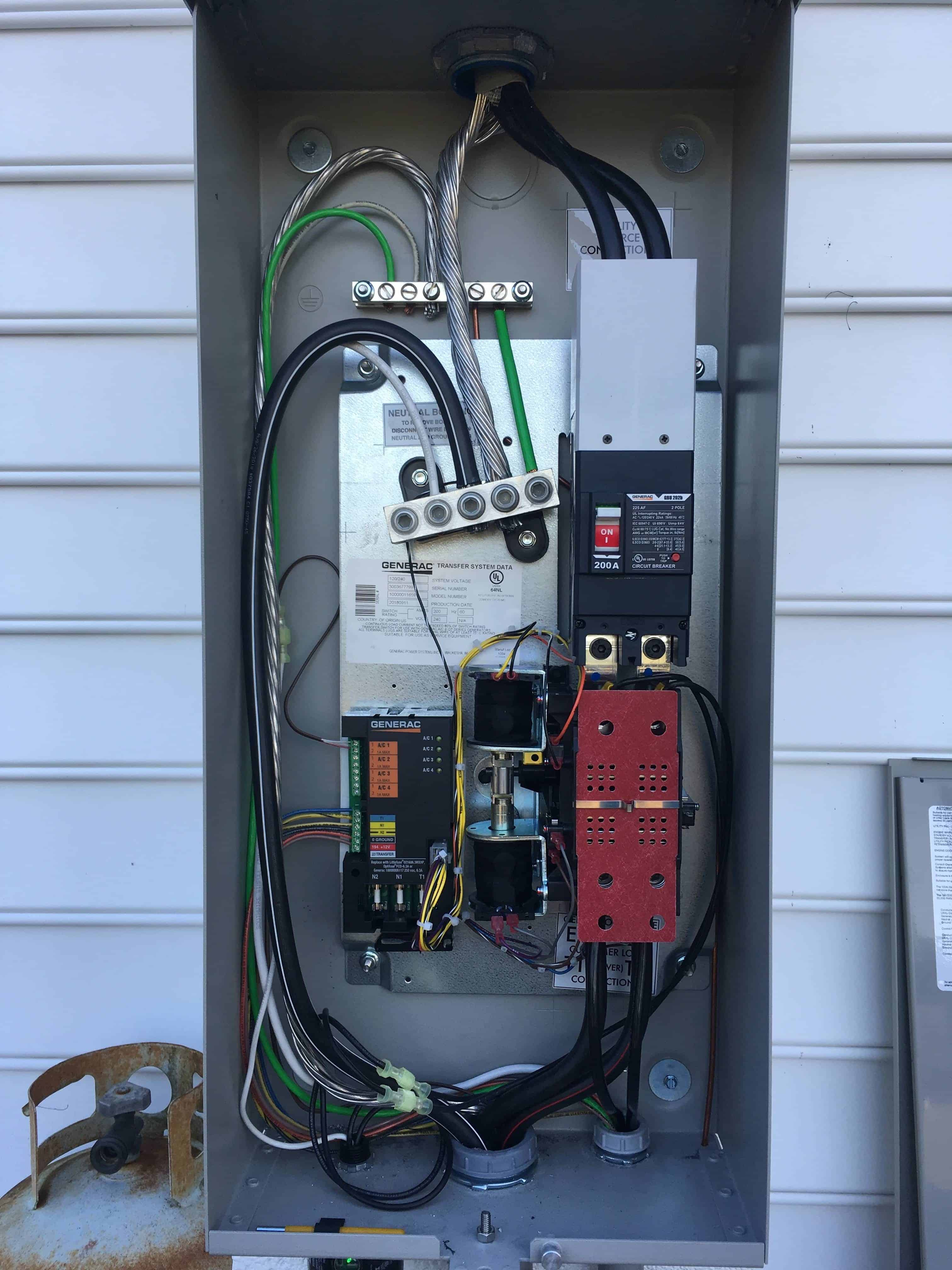 Generac Automatic Transfer Switch Open