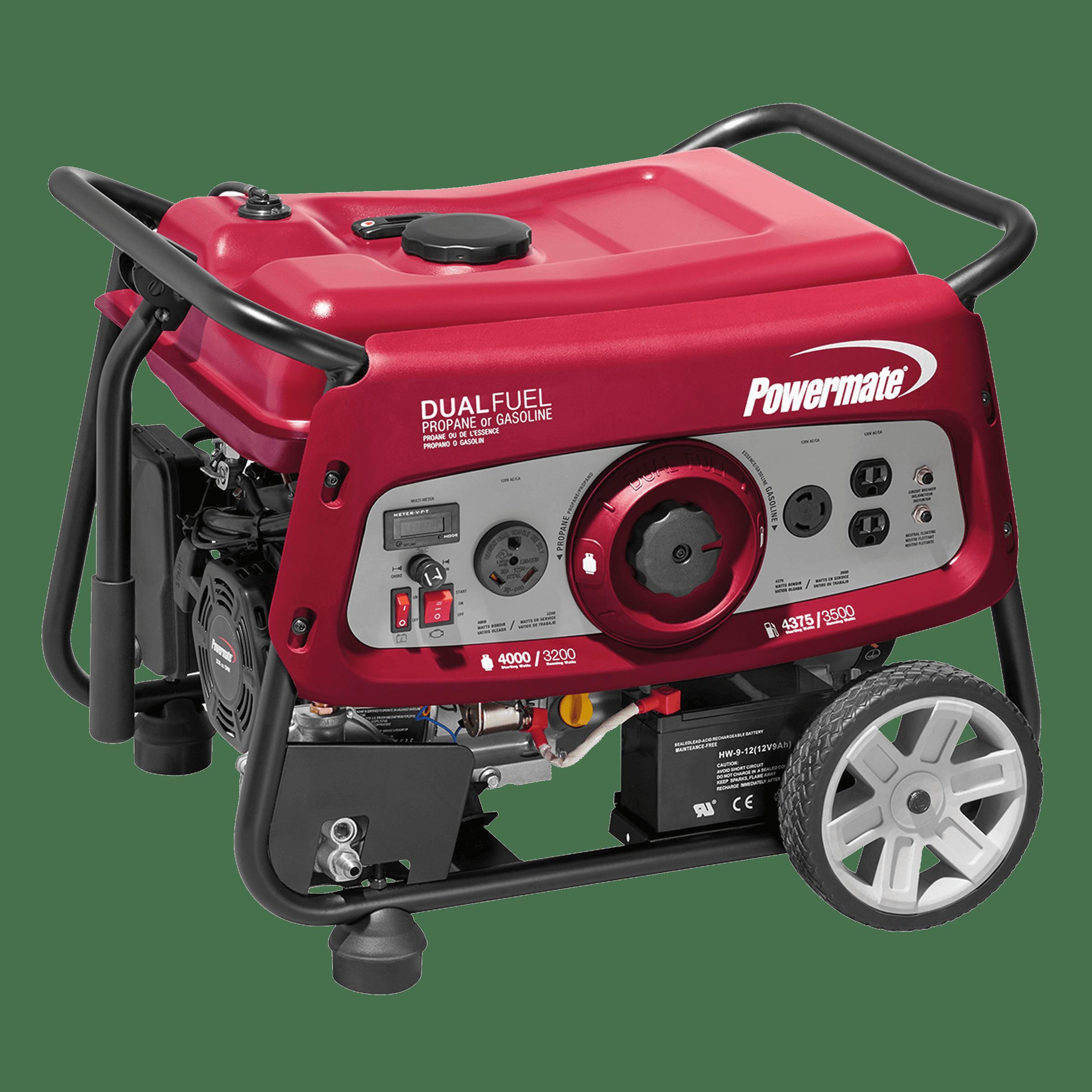 Powermate Dual Fuel 3500 Portable Generator