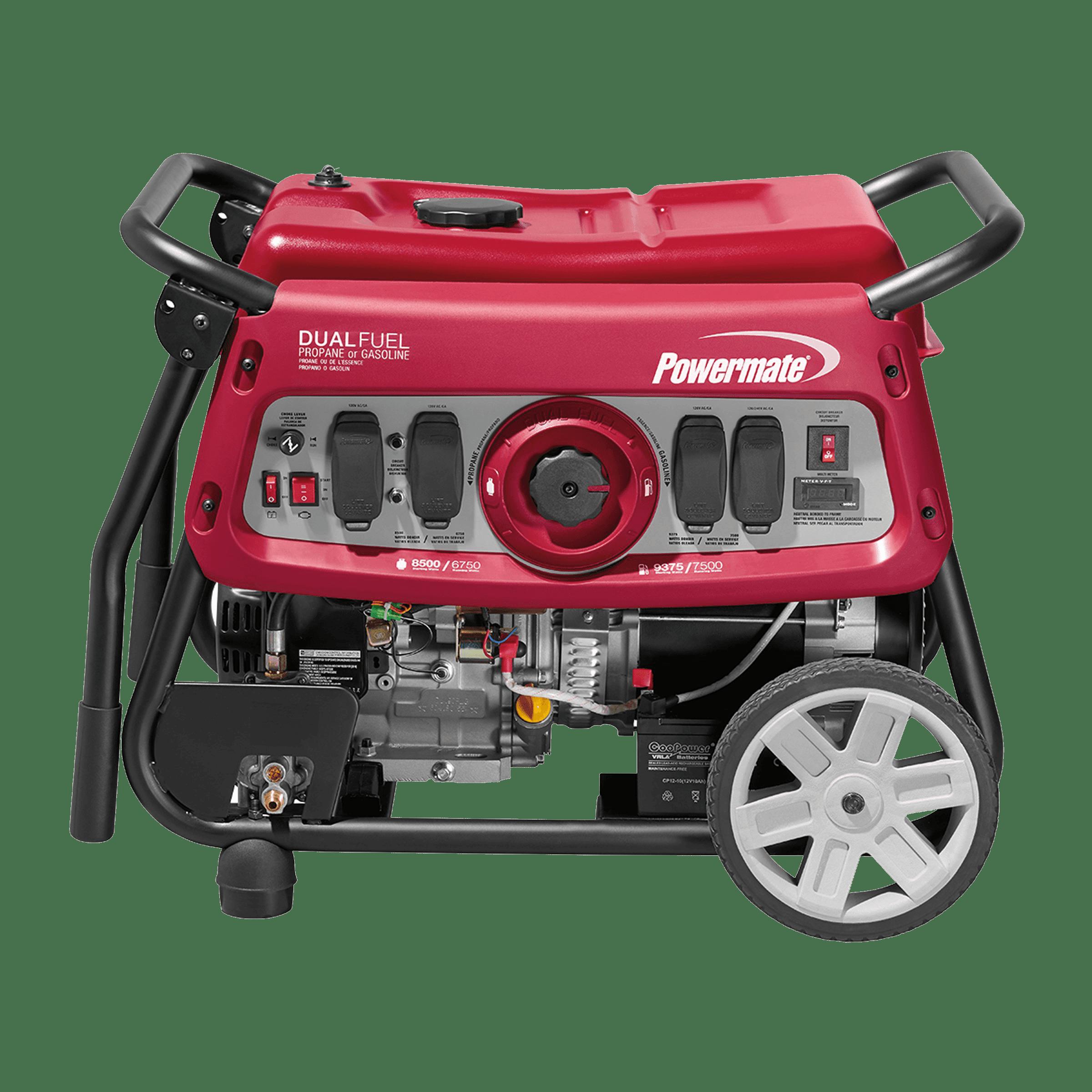 Powermate Dual Fuel 7500E Portable Generator