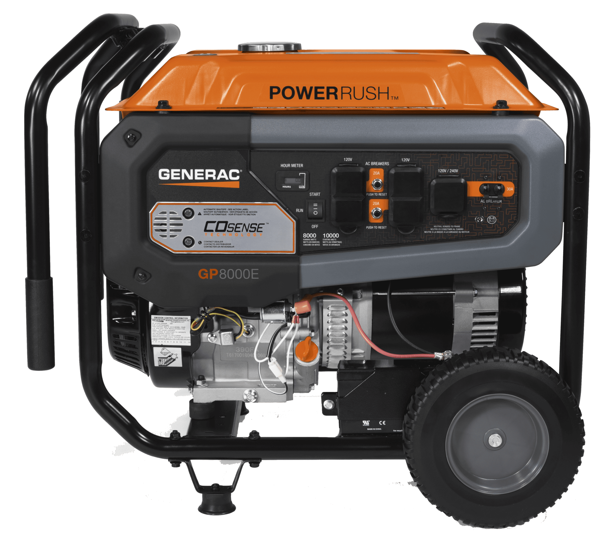 Generac GP 8000E Portable Generator Side