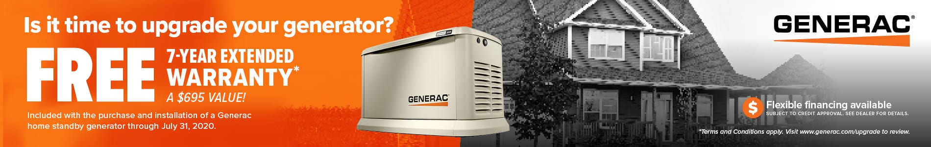 Replace Your Generator and Get a FREE 7 Year Extended Warranty!