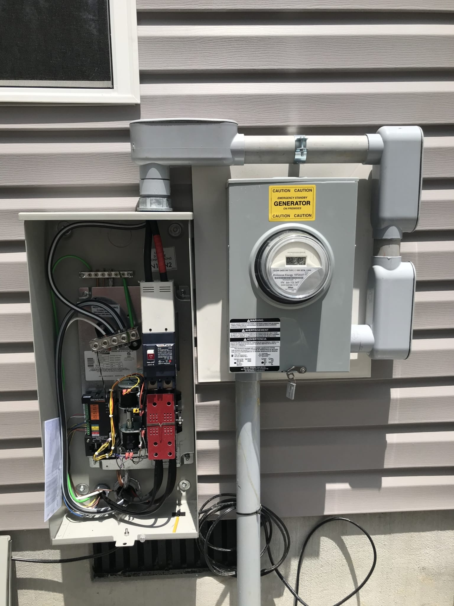 6.10.20 Charles City Generac Automatic Transfer Switch Open