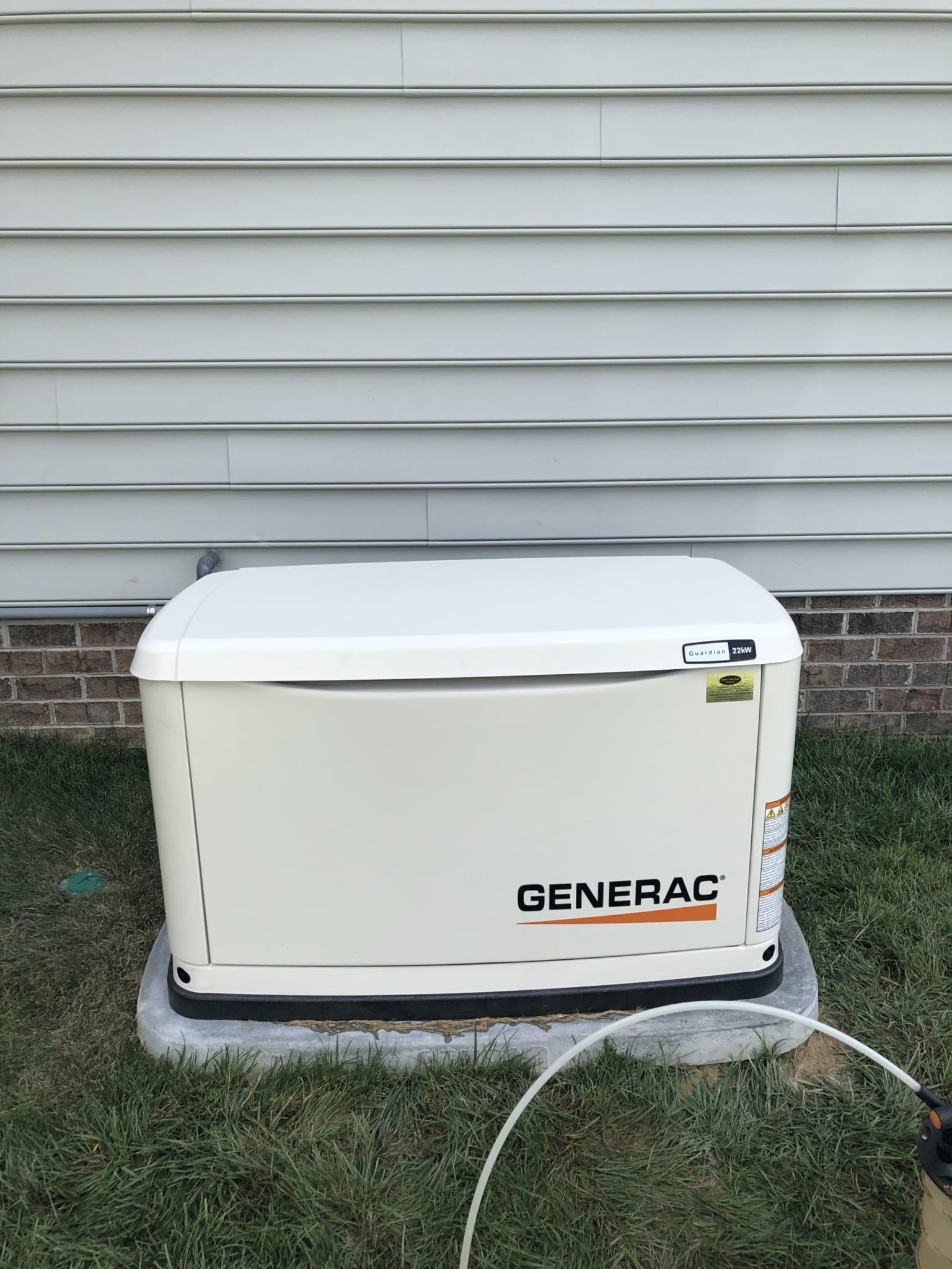 7.8.20 Generac Automatic Standby Generator